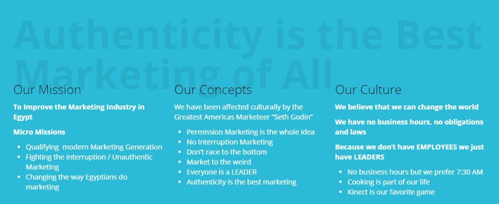 mission, concept & culture
