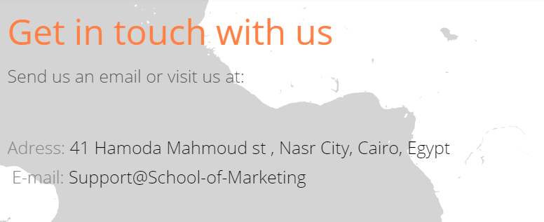 contact me - School of marketing